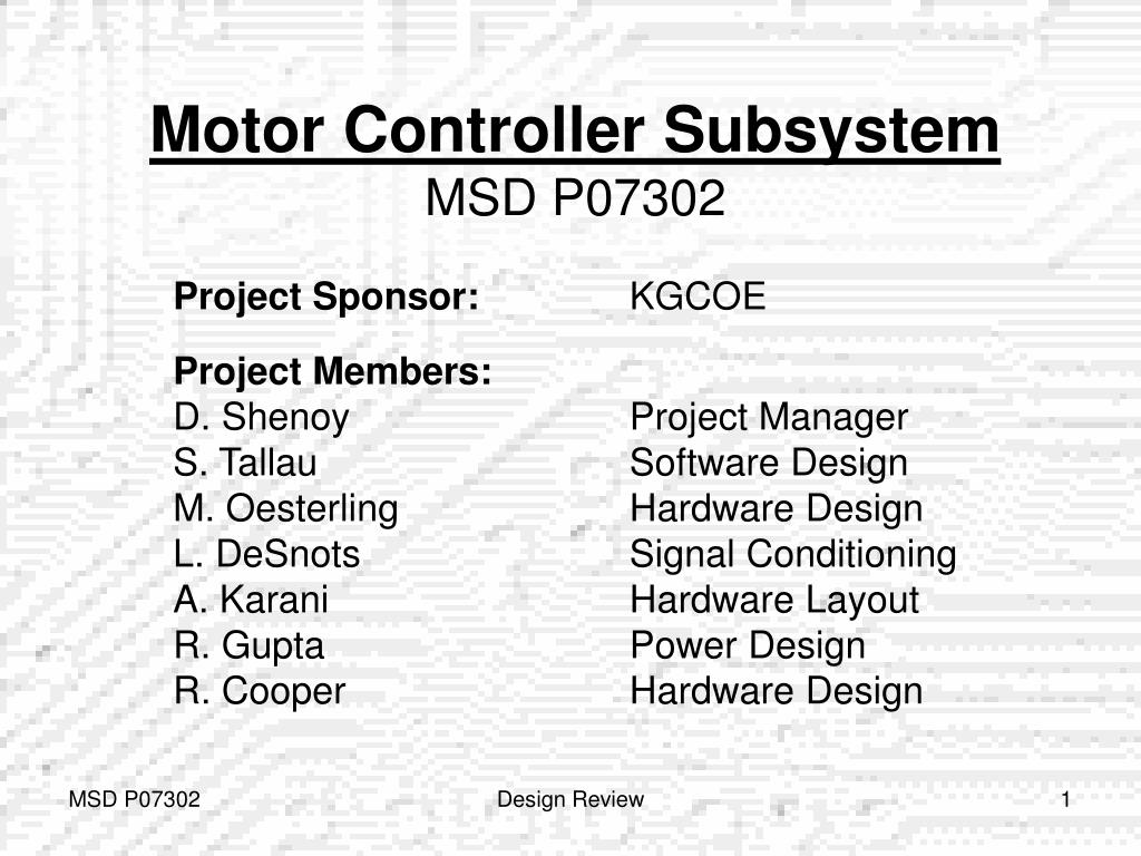 Motor Controller Subsystem