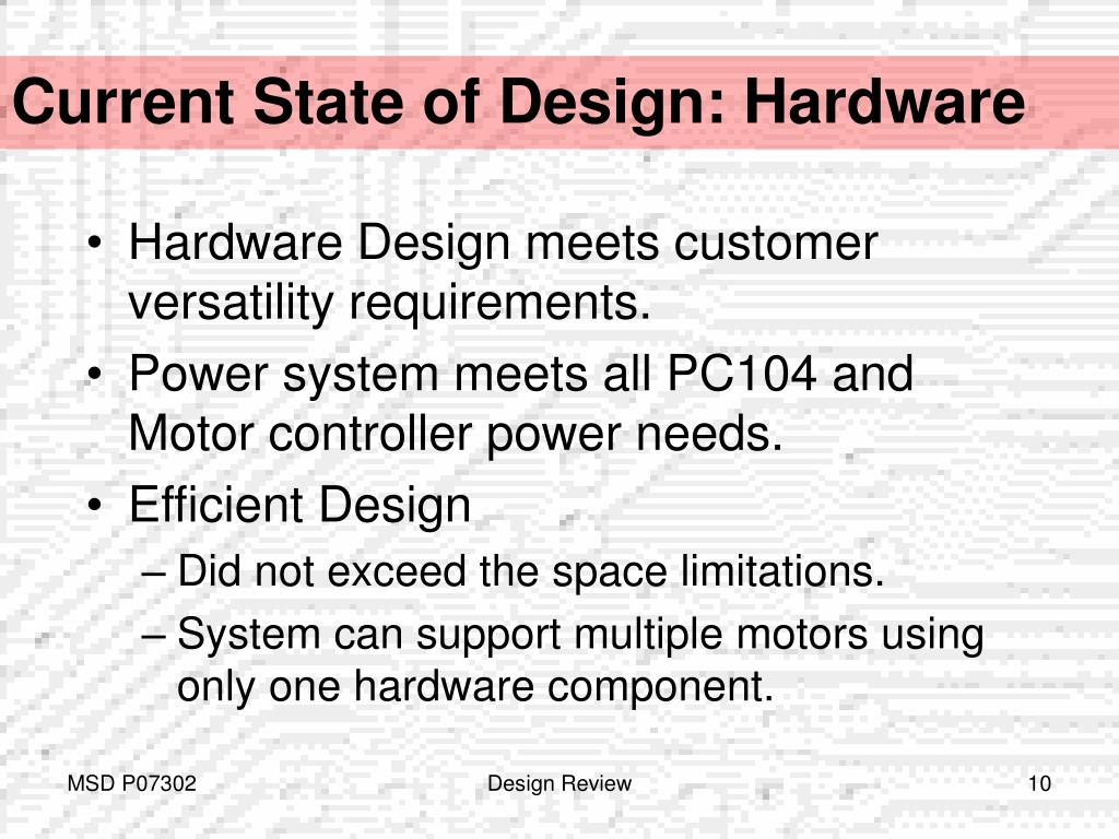 Current State of Design: Hardware