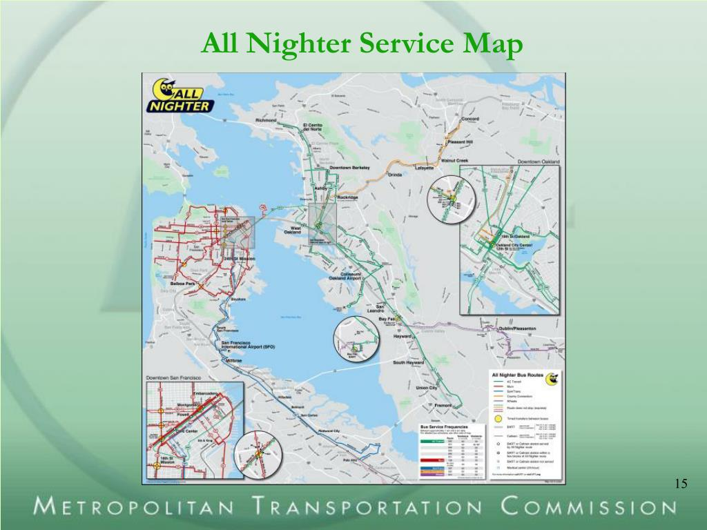 All Nighter Service Map