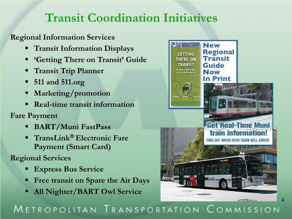 Transit Coordination Initiatives