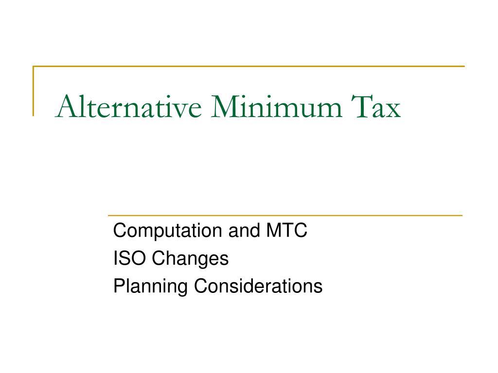 Alternative Minimum Tax