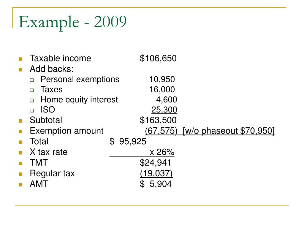 Example - 2009
