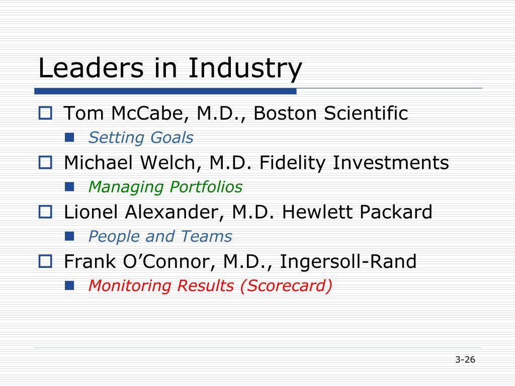 Leaders in Industry