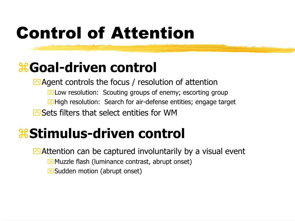 Control of Attention