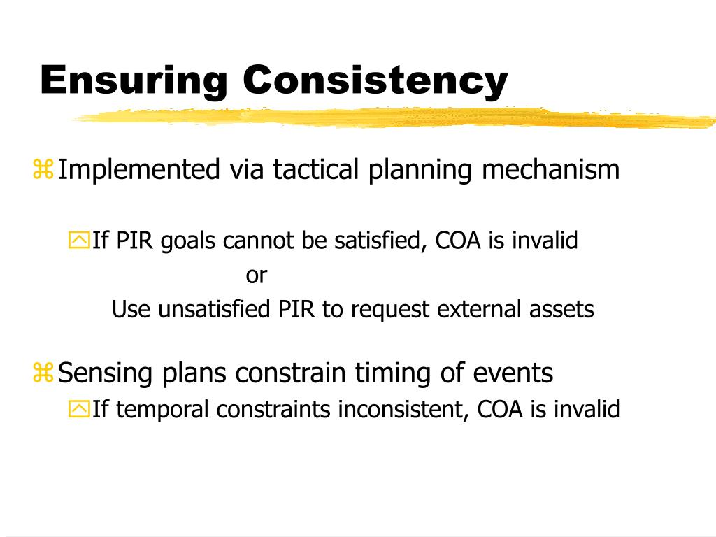 Ensuring Consistency