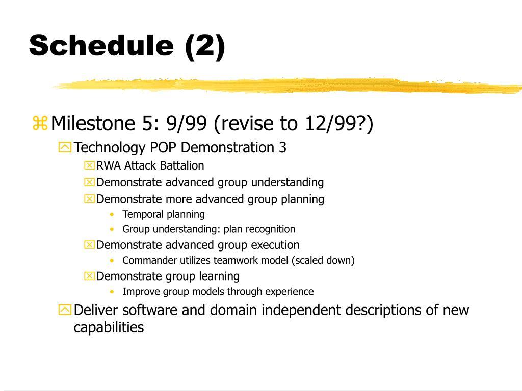 Schedule (2)