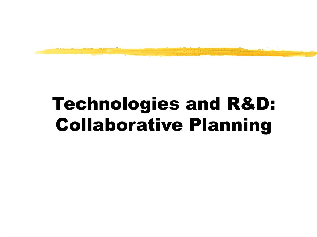 Technologies and R&D:
