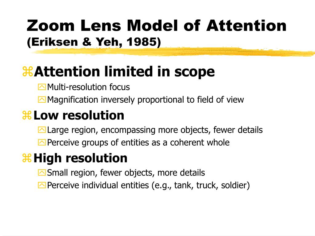 Zoom Lens Model of Attention