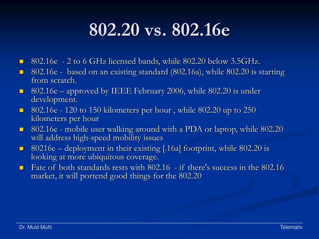 802.20 vs. 802.16e