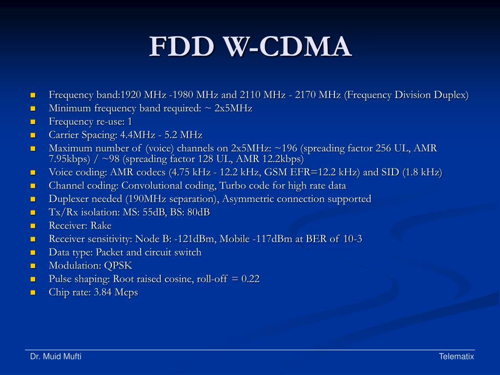 FDD W-CDMA