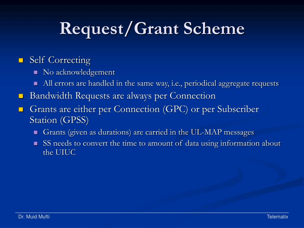 Request/Grant Scheme