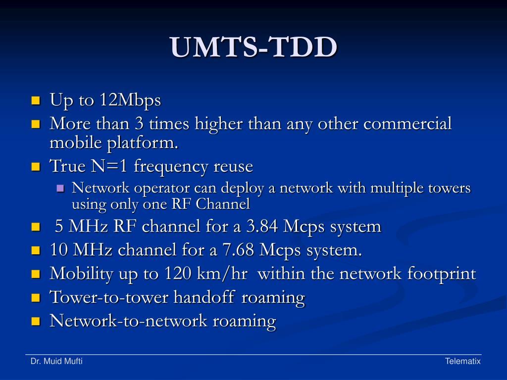 UMTS-TDD