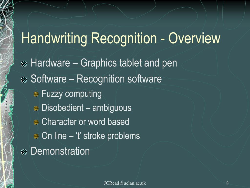 Handwriting Recognition - Overview