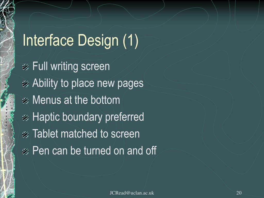 Interface Design (1)