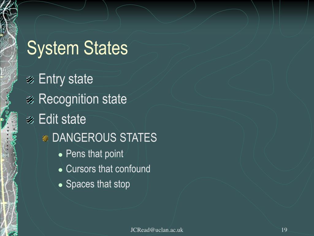 System States