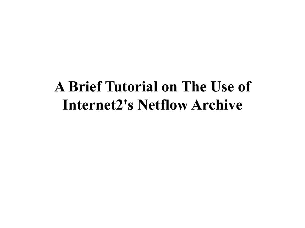 A Brief Tutorial on The Use of