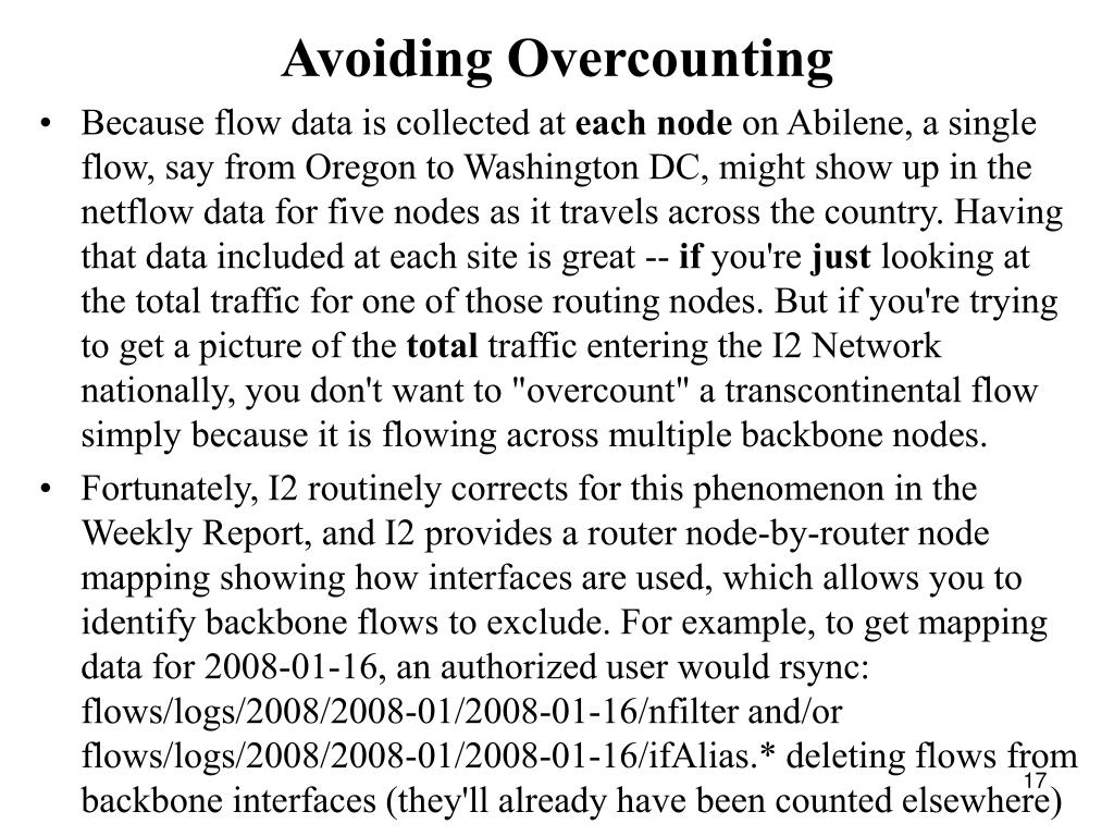 Avoiding Overcounting