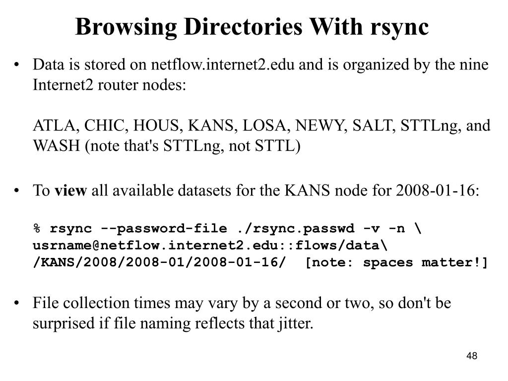 Browsing Directories With rsync