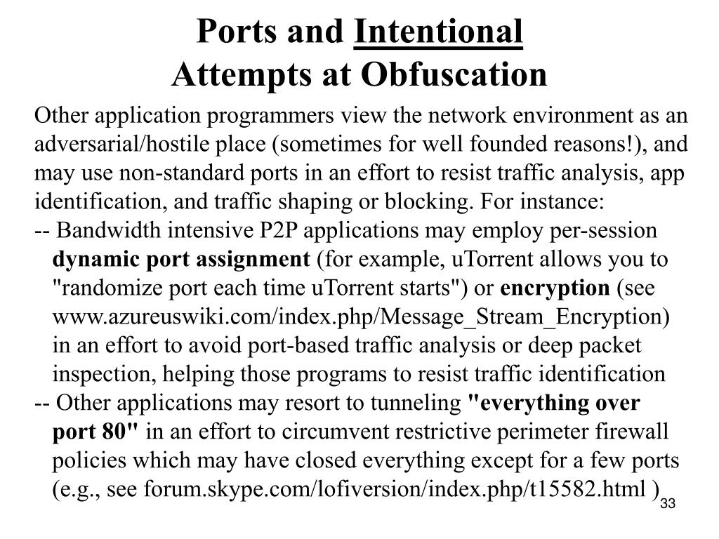 Ports and