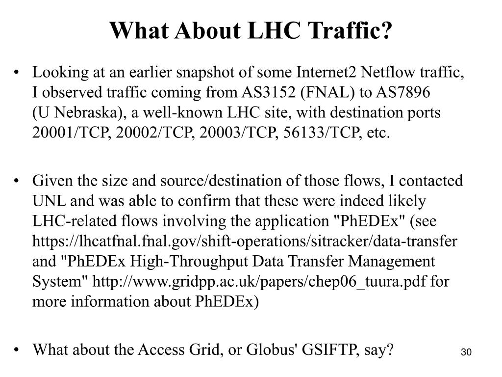 What About LHC Traffic?