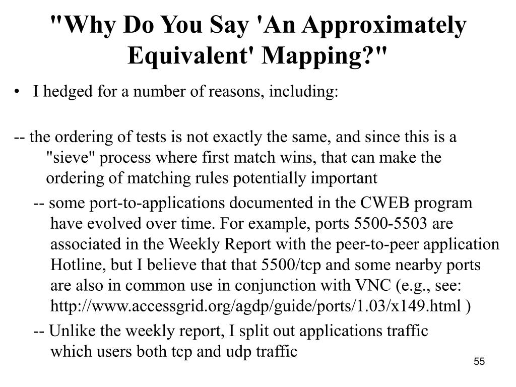 """""""Why Do You Say 'An Approximately Equivalent' Mapping?"""""""