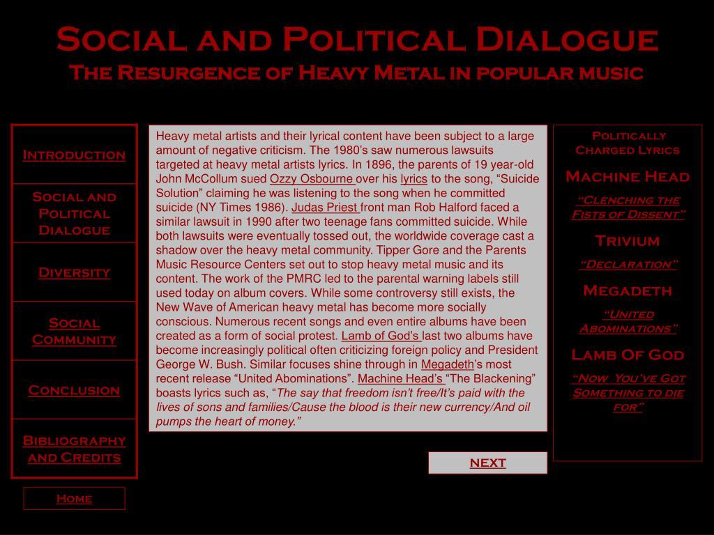Social and Political Dialogue