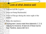 look at what jessica said