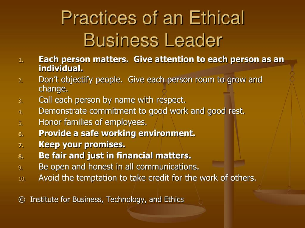 Practices of an Ethical