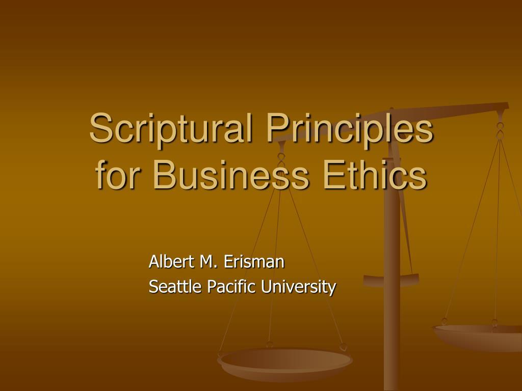 Scriptural Principles