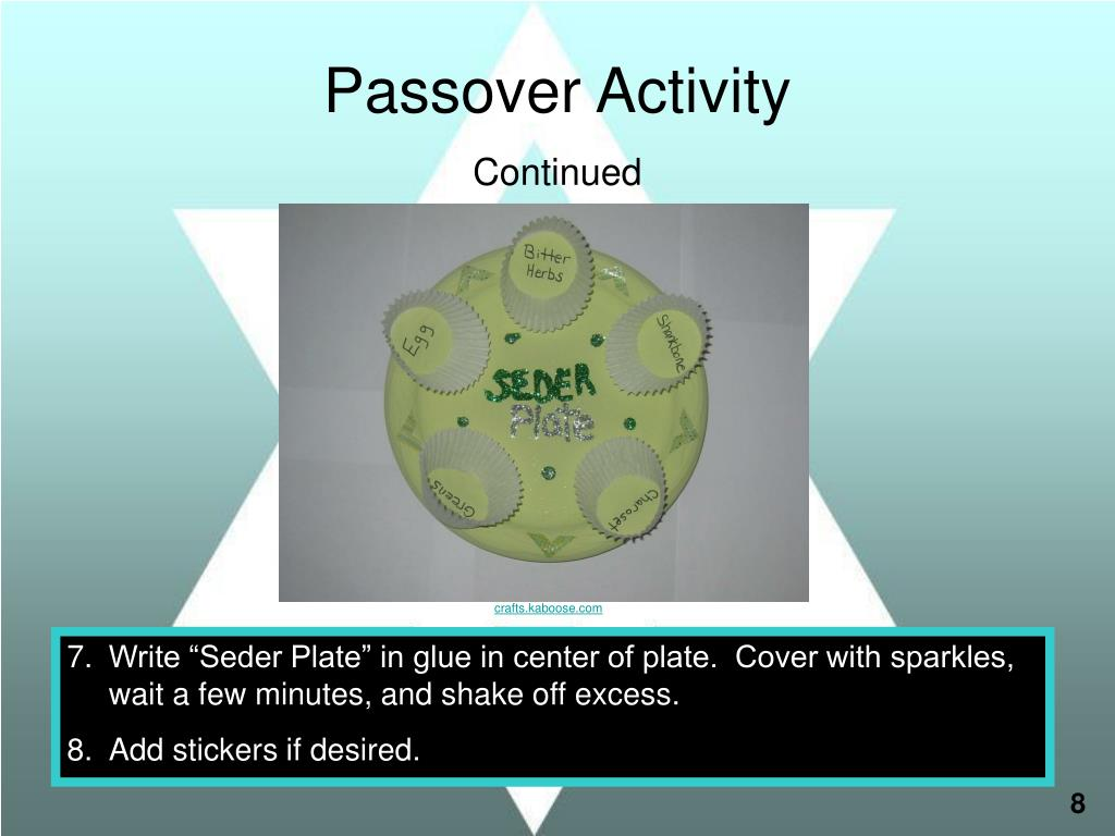 Passover Activity