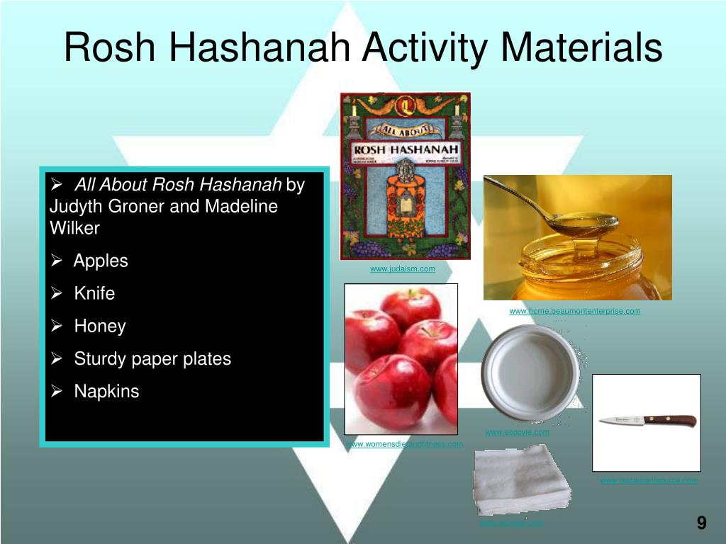 Rosh Hashanah Activity Materials