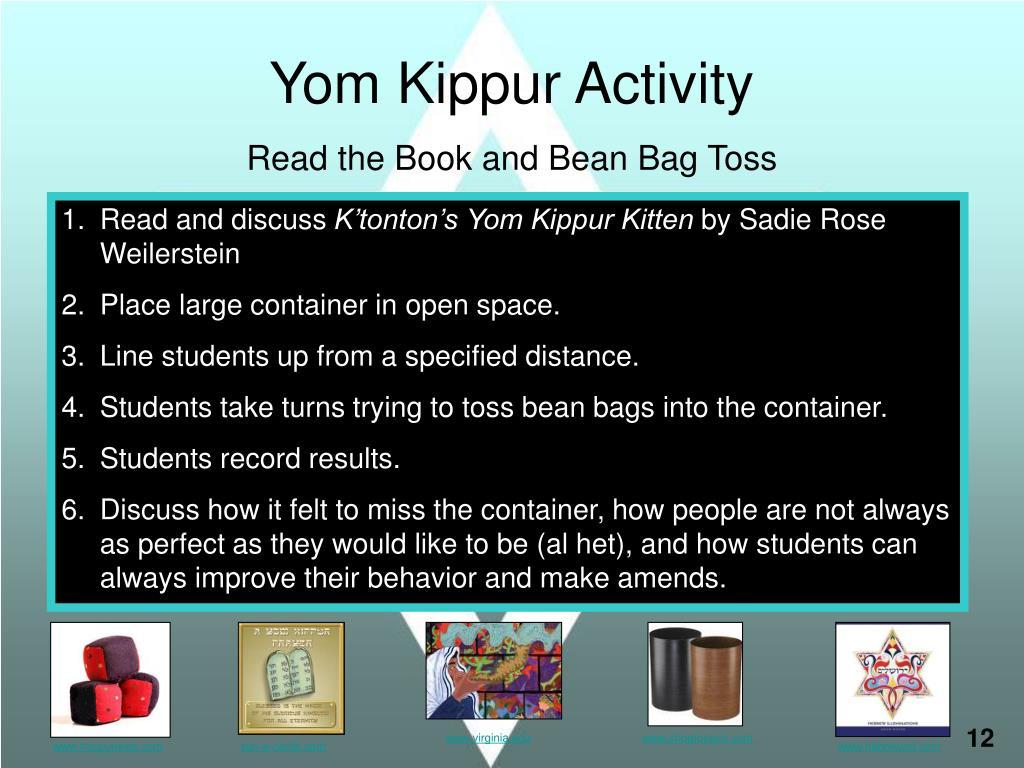 Yom Kippur Activity