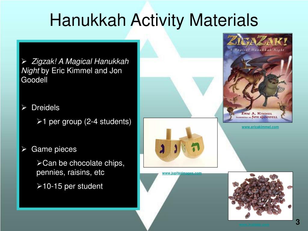 Hanukkah Activity Materials