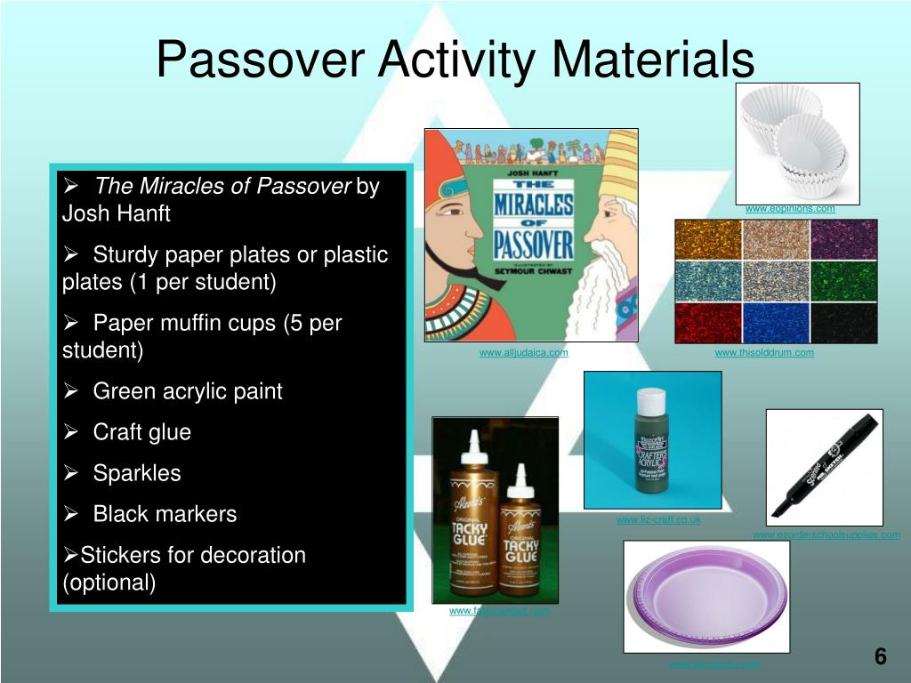 Passover Activity Materials