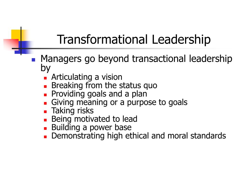 transactional leader and transformational leader essay Transactional and transformational leadership are two contemporary styles of leadership that have their own strengths and weaknesses phdessay is an educational resource where over 40,000 free essays are collected.
