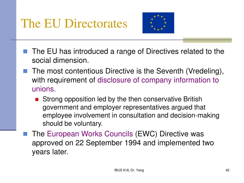 The EU Directorates