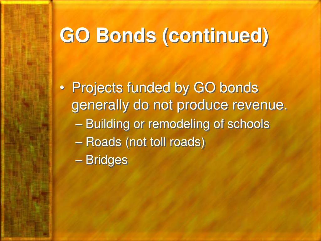 GO Bonds (continued)