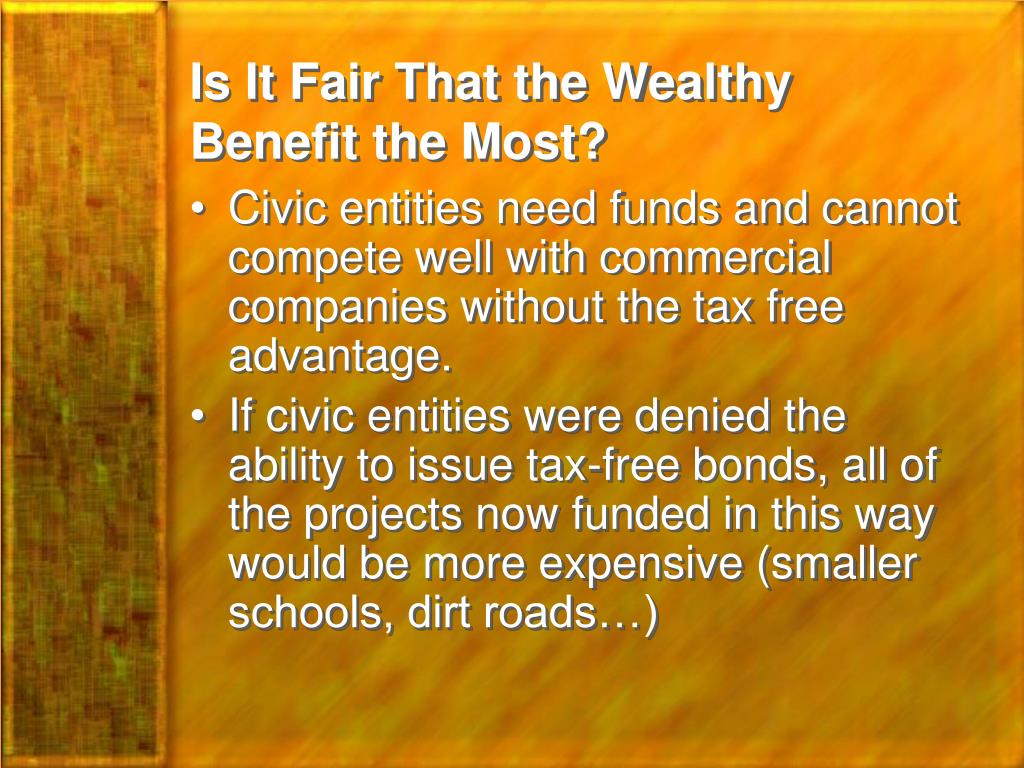 Is It Fair That the Wealthy Benefit the Most?