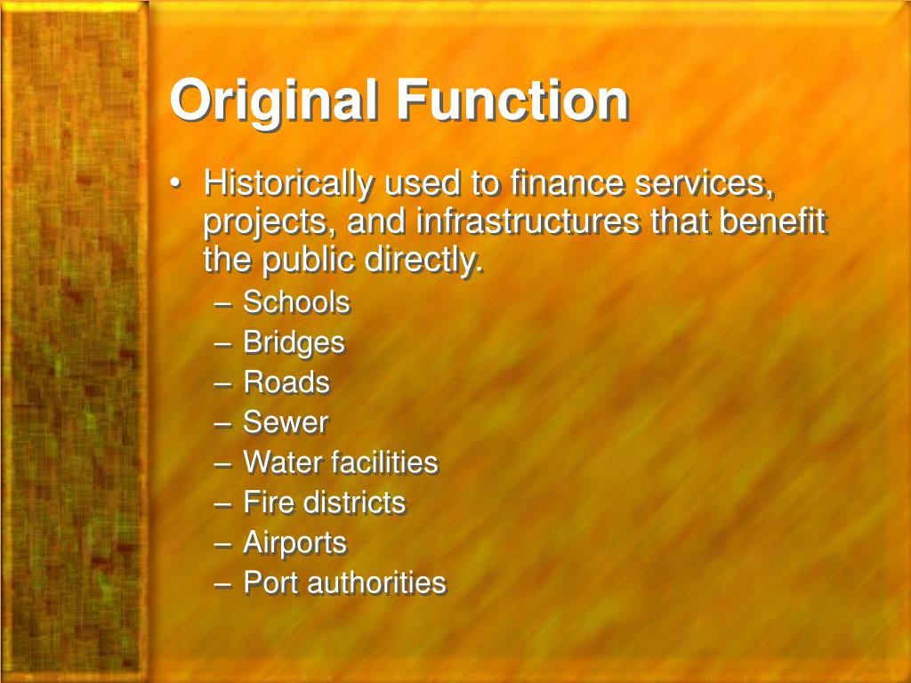Original Function