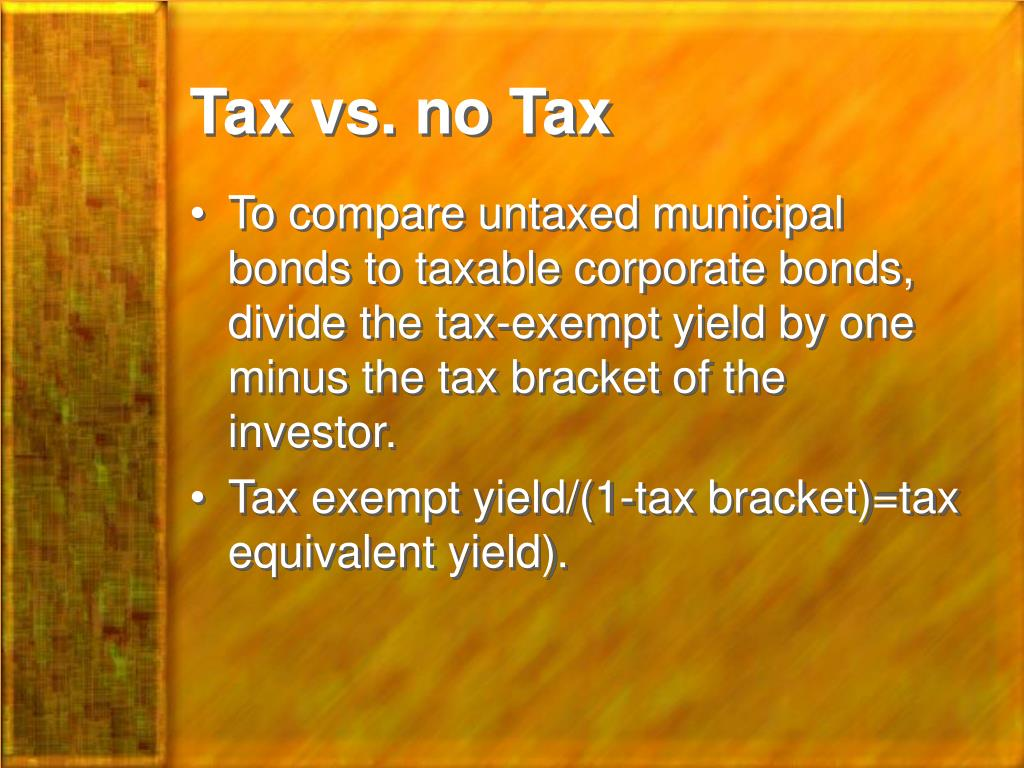 Tax vs. no Tax