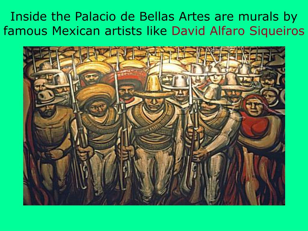 Inside the Palacio de Bellas Artes are murals by famous Mexican artists like
