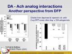 da ach analog interactions another perspective from dfp