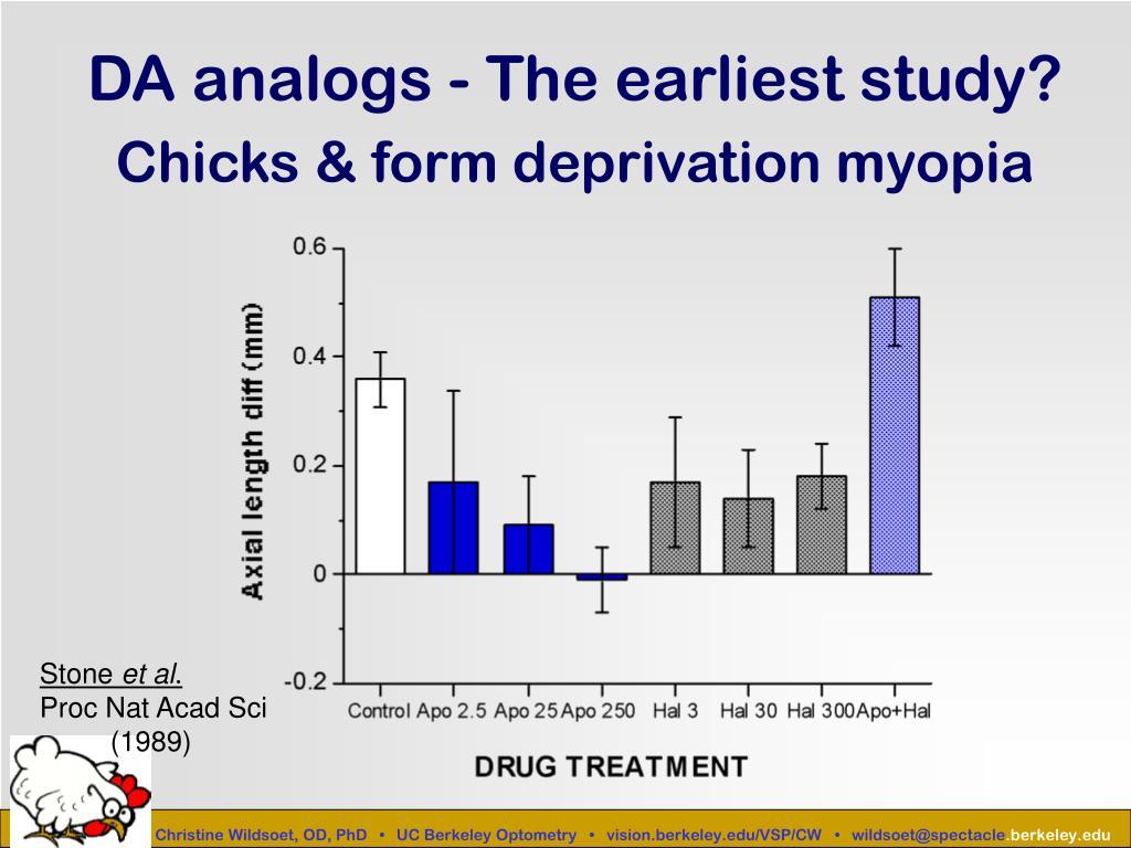 DA analogs - The earliest study?