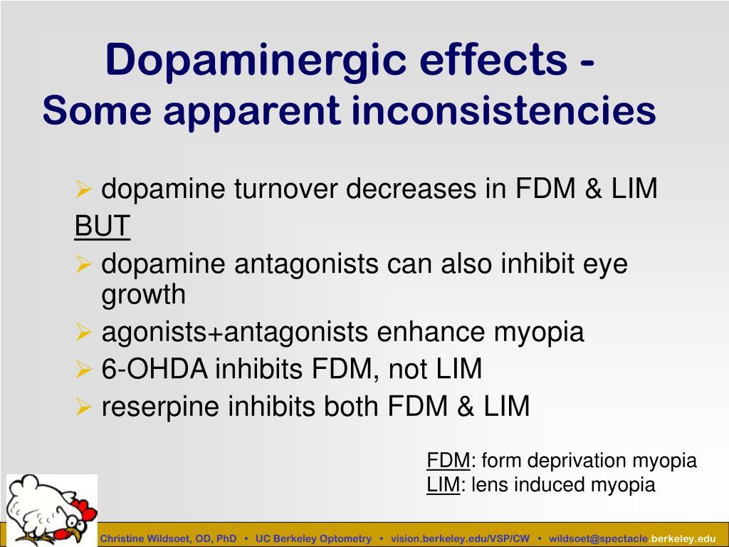 Dopaminergic effects -