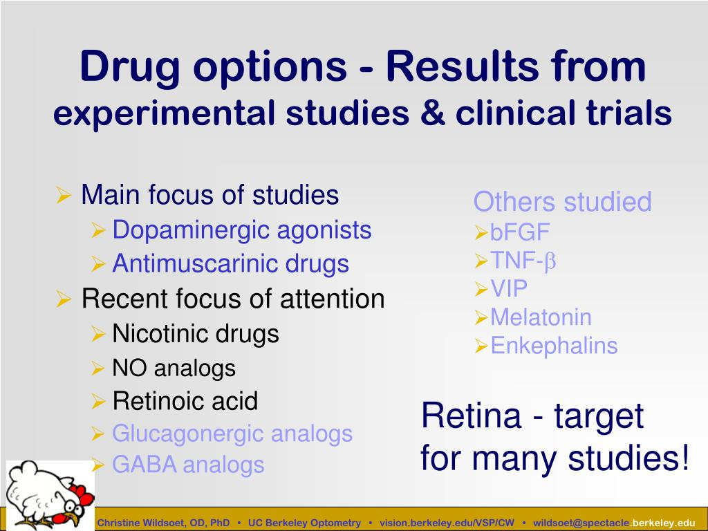 Drug options - Results from