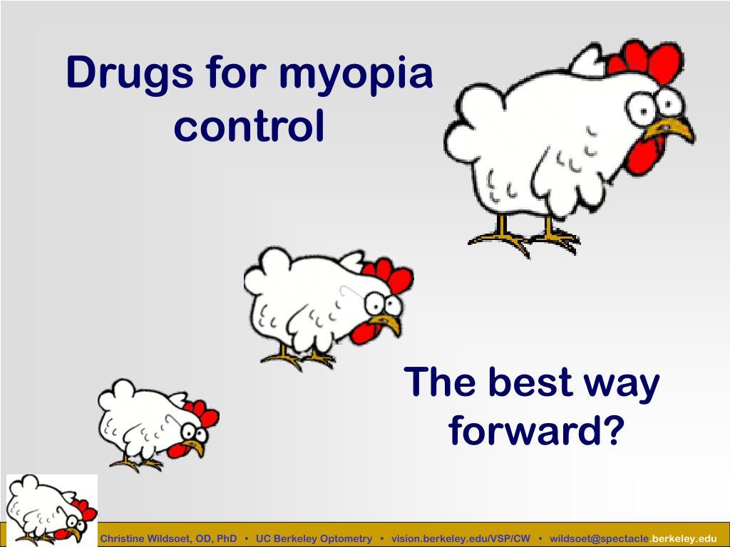Drugs for myopia control