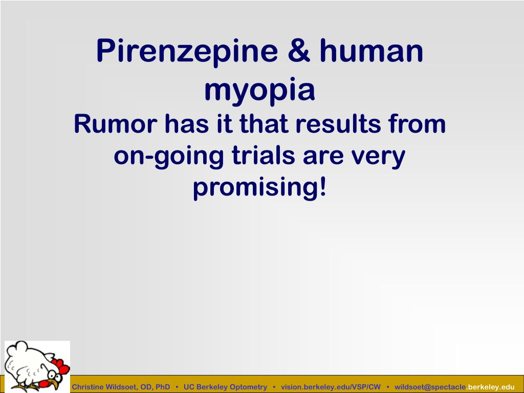Pirenzepine & human myopia