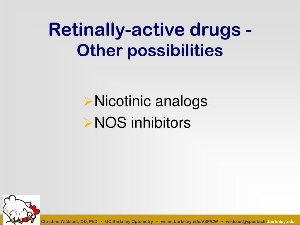 Retinally-active drugs -