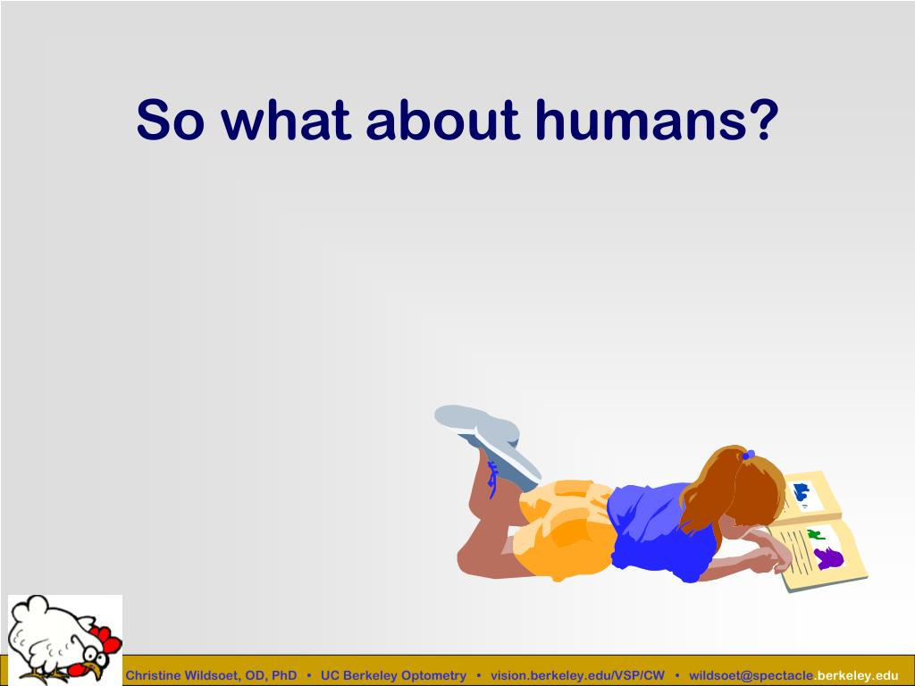 So what about humans?