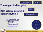 the neglected targets iop scleral growth ocular rhythms